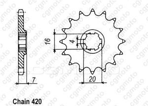 Kit chaine Suzuki Rmx/Smx 50